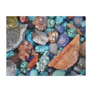 Turquiose Gemstones Canvas Print