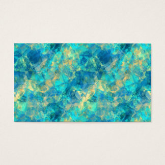 Turquise Crumpled Texture Business Card