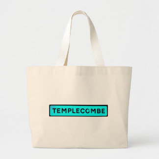 turquise del templecombe bolsa tela grande