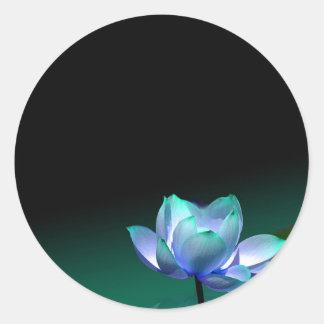 Turquois Blue lotus sticker