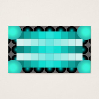Turquoise 3D Design Business Card Attention Get 4