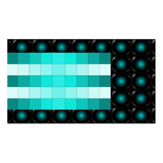 Turquoise 3D Illusion Unusual Business Card 5