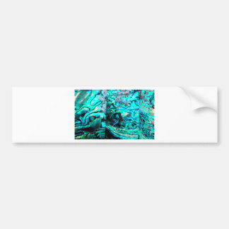 Turquoise abalone paua shell detail bumper sticker