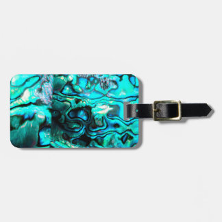 Turquoise abalone paua shell detail tag for luggage
