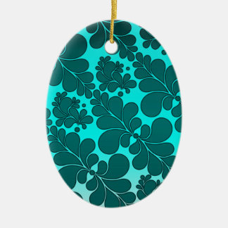 Turquoise Abstract Ceramic Ornament