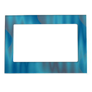 turquoise abstract design magnetic frame