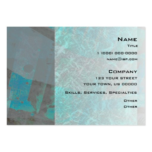 Turquoise Abstract Industrial Business Card