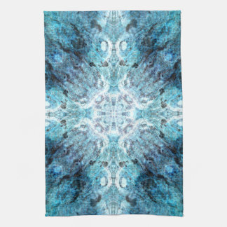 Turquoise Abstract, with some soft blurred edges. Hand Towels