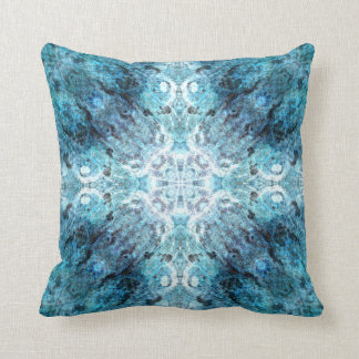 Turquoise Abstract, with some soft blurred edges. Throw Pillow