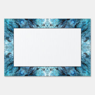Turquoise Abstract, with some soft blurred edges. Yard Signs