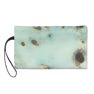 Turquoise Abstract Wristlet Purse