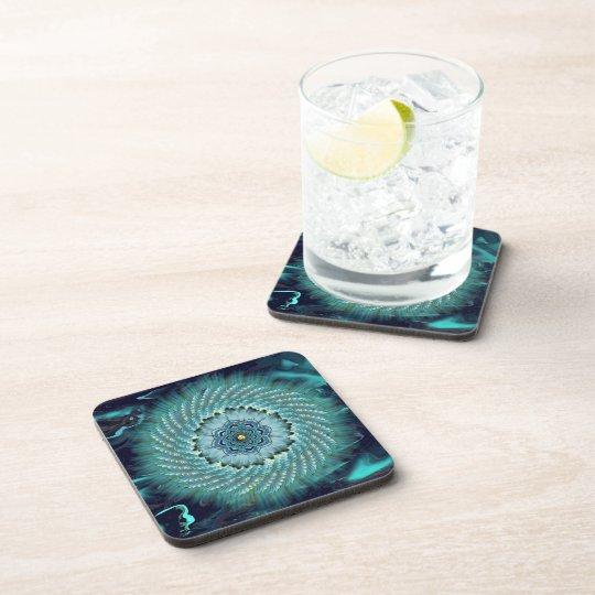 Turquoise and Aqua Mandala Coasters