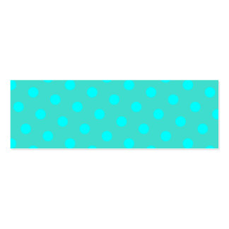 Turquoise and Aqua Polka Dots Double-Sided Mini Business Cards (Pack Of 20)