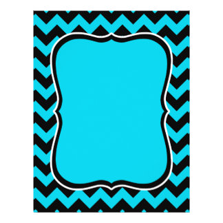 Turquoise and black chevron pattern flyer