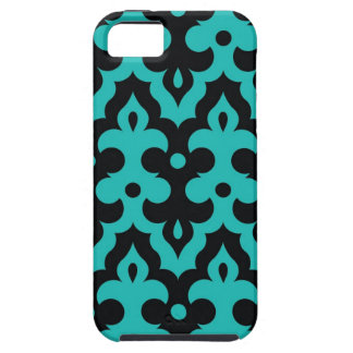 Turquoise and Black Frieze iPhone Case