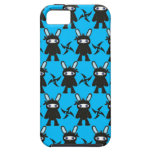 Turquoise and Black Ninja Bunny Pattern iPhone 5 Cover