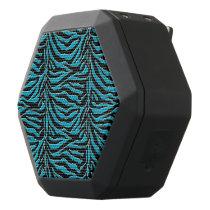 Turquoise and Black Zebra Animal Print Speaker