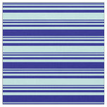 [ Thumbnail: Turquoise and Blue Colored Stripes/Lines Pattern Fabric ]
