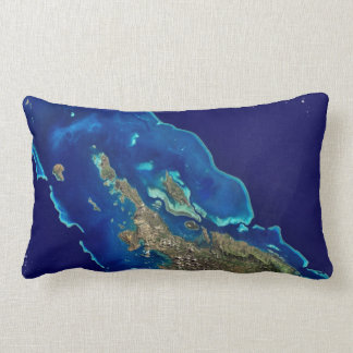 Turquoise and Blue Coral Reefs Throw Pillow