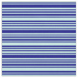 [ Thumbnail: Turquoise and Blue Lined/Striped Pattern Fabric ]