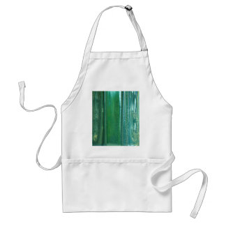 Turquoise and Blue Reflections in the Glass Adult Apron