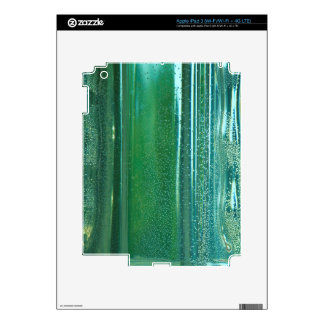 Turquoise and Blue Reflections in the Glass Skins For iPad 3