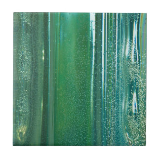 Turquoise and Blue Reflections in the Glass Tile
