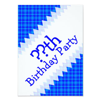 Turquoise and Blue Retro Chequered Birthday Card