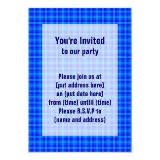 Turquoise and Blue Retro Chequered Pattern Card