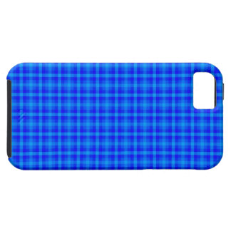 Turquoise and Blue Retro Chequered Pattern iPhone 5 Covers