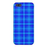 Turquoise and Blue Retro Chequered Pattern Case For iPhone 5