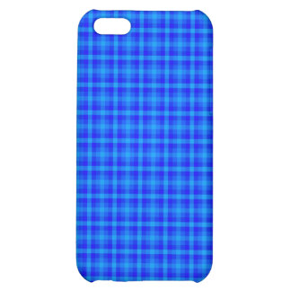 Turquoise and Blue Retro Chequered Pattern iPhone 5C Cover