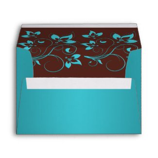 Turquoise and Brown Envelope for 5