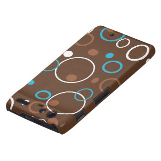 Turquoise and Brown Hoops Motorola Droid RAZR Cover