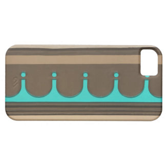 Turquoise and Brown Molding iPhone 5 Cases