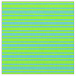 [ Thumbnail: Turquoise and Chartreuse Colored Stripes Fabric ]
