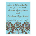 Turquoise and Chocolate Postcard