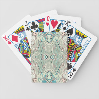 Turquoise And Copper Blend Bicycle Playing Cards