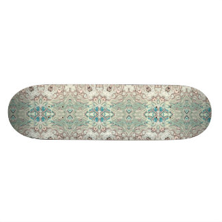 Turquoise And Copper Blend Skateboard Deck