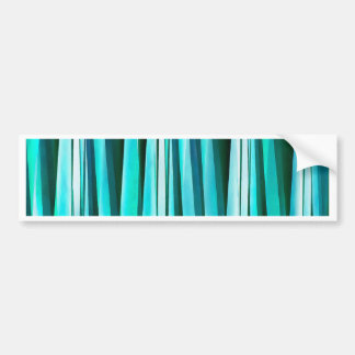 Turquoise and Cyan Ocean Stripy Lines Pattern Bumper Sticker