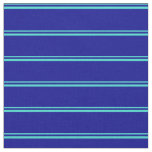 [ Thumbnail: Turquoise and Dark Blue Pattern Fabric ]