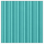 [ Thumbnail: Turquoise and Dark Cyan Stripes Fabric ]