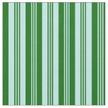 [ Thumbnail: Turquoise and Dark Green Colored Lines Fabric ]