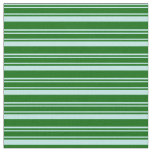 [ Thumbnail: Turquoise and Dark Green Colored Stripes Pattern Fabric ]
