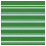 [ Thumbnail: Turquoise and Dark Green Striped Pattern Fabric ]