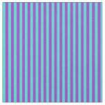 [ Thumbnail: Turquoise and Dark Orchid Lined Pattern Fabric ]