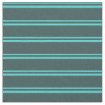[ Thumbnail: Turquoise and Dark Slate Gray Colored Lines Fabric ]
