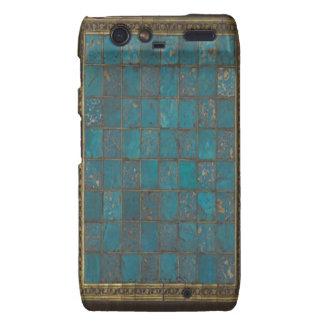 Turquoise and Gold Art Motorola Droid Razr Case.
