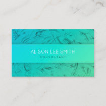 Turquoise and gold Consultant Business Card