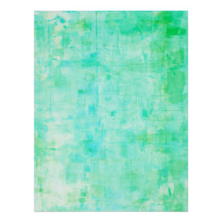 Turquoise and Green Abstract Art Poster Print